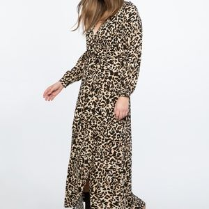 Eloquii Leopard Wrap Maxi Dress
